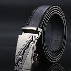 5X 3X Fashion Men/' Leather automatic Strap Belt Without Buckle Waist Straps