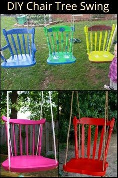 The kids will surely love this… and so will kids at heart! Wood Projects For Kids, Wood Projects For Beginners, Kids Wood, Diy Garden Projects, Backyard For Kids, Diy For Kids, Kids Swing, Swings For Kids, Woodworking Projects Diy