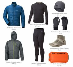 Pacific Crest Trail Gear - Clothing Packed A complete thru-hiking gear list for the Pacific Crest Trail. If you are planning to hike the entire mile trail from Mexico to Canada, this gear list includes everything you will need for that epic trek. Hiking Gear List, Hiking Pants, Backpacking Tips, Hiking Tips, Hiking Backpack, Travel Backpack, Travel Bags, Ultralight Backpacking, Outdoor Life
