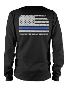 "Pick your favorite style Show your support for Law Enforcers All across the Country with our latest design, ""Thin Blue Line Flag"". - Guaranteed safe and secure checkout via Amazon / VISA / MASTERCARD."