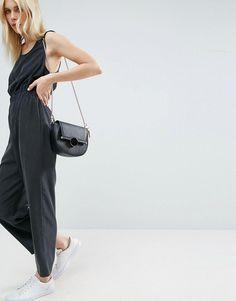 ASOS Minimal Jumpsuit with Waist Detail - Black
