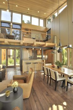 Sunset Point Residence - San Juan Island, WA... Not too keen on the colors but the open space and windows I love!