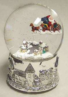 Christmas Musical Snow Globes Palle Neve Pinterest