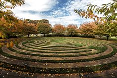 Bill and Ruth Ann Harnisch built an 86-foot bluestone labyrinth on their 12-acre waterfront property in the Town of Southampton, N.Y.
