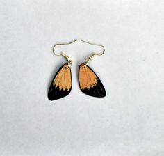 Check out Handcrafted Butterfly earrings, 14 k gold, sterling silver or hypoallergenic, jewelry, Dangle earrings, butterfly wing earrings on dougwalpusartstudio