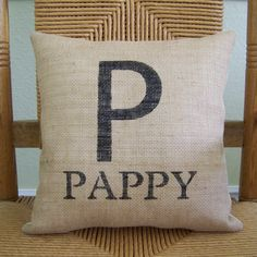 Papa pillow Abuelo pillow Pops pillow by KelleysCollections