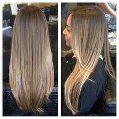 Ash blonde ombré with blonde