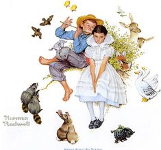 Sweet Song So Young Art Print by Norman Rockwell - Canvas Wall Decor Norman Rockwell Prints, Norman, Illustration, Norman Rockwell, Young Art, Norman Rockwell Paintings, Art, Rockwell, American Artists