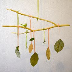 Wooden Branch Baby Mobile - HandAndHold - Etsy-who can help me do something like this?
