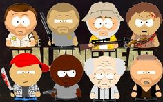 The Walking Dead men turned into South Park characters