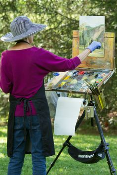 Cashiers Plein Air artists at Lonesome Valley