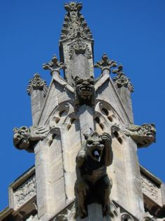 Gargoyles on The Church of Our Lady and the English Martyrs, Cambridge - why Christianity has been mixed with Paganism since the Nationalization of Christianity in Rome