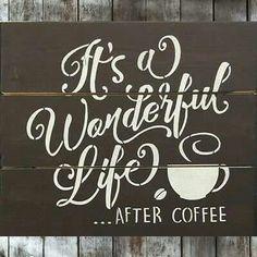 It's a Wonderful Life-After Coffee! of the Coffee House Girls Coffee Talk, Coffee Is Life, I Love Coffee, My Coffee, Coffee Shop, Coffe Bar, Happy Coffee, Black Coffee, Coffee Break