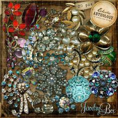 Vintage Rhinestone Jewelry Box Royalty-Free Graphics-vintage, graphics, jewelry, brooch, rhinestone, gold, silver, earrings, crystal, green,...