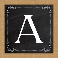 Free Printable Complete Alphabet and Number Burlap and Chalkboard Banner and Tag Set