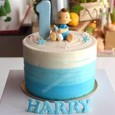 First birthday cakes for baby boy 9 1 year old birthday cakes for boys cute birthday cake wishes for baby one 10 baby boy birthday… Cake 1 Year Boy, One Year Birthday Cake, Baby 1st Birthday Cake, Birthday Cake Kids Boys, Minnie Mouse Birthday Cakes, Birthday Cake Pictures, Bithday Cake, Happy Birthday, Baby Cake Design