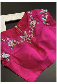 Cutwork Blouse Designs, Best Blouse Designs, Simple Blouse Designs, Stylish Blouse Design, Indian Blouse Designs, Embroidery Suits Design, Hand Embroidery, Embroidery Designs, Blouse Designs Catalogue