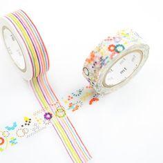 Image of Colorful Pattern Washi Tape