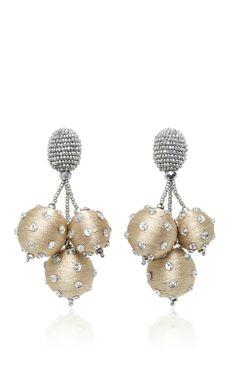 Triple Ball Polka Dot Earrings by OSCAR DE LA RENTA Now Available on Moda Operandi