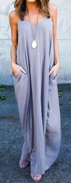 #summer #outfits / lilac maxi dress