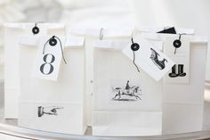 packaging, white paper bags ❥