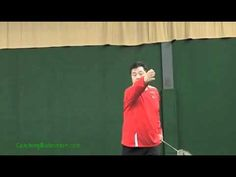 Badminton Smash: How your elbow should be set for a smash. This video is part 1 of 2.