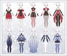 Cartoon Outfits, Anime Outfits, Fashion Outfits, Pretty Outfits, Cute Outfits, Dress Design Drawing, Anime Girl Dress, Drawing Anime Clothes, Clothing Sketches