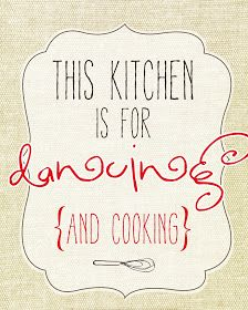 Free printable, but would rather make my own for kitchen collage frame wall.
