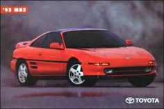 1993 Toyota MR2 - this was my first new car and it was glorious.
