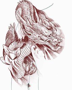 Dragon japan nail design for of july - Nail Desing Dragon Tattoo Art, Dragon Sleeve Tattoos, Japanese Dragon Tattoos, Japanese Tattoo Art, Dragon Artwork, Dragon Tattoo Designs, Tattoo Sleeve Designs, Kunst Tattoos, Tatuajes Tattoos