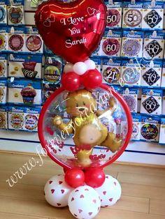 Valentines Balloons Balloon Crafts, Balloon Gift, Balloon Decorations, Balloon Ideas, Get Well Balloons, Small Balloons, Valentines Balloons, Birthday Balloons, Balloon Bouquet
