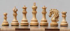 Chess sets from The Chess Piece chess set store: Jazzy Trio Knight Staunton Chessmen, Staunton Chess Pieces