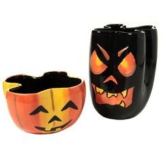 Jack 'O Lantern Bowls - paint your own pottery ideas.