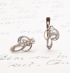 Edwardian Diamond Ampersand Earrings