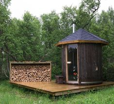 """Sauna in Røros, Norway - the ultimate backyard """"shed"""" Diy Sauna, Sauna Ideas, Outdoor Spaces, Outdoor Living, Outdoor Decor, Design Sauna, Outdoor Sauna, Lillehammer, Shed Plans"""