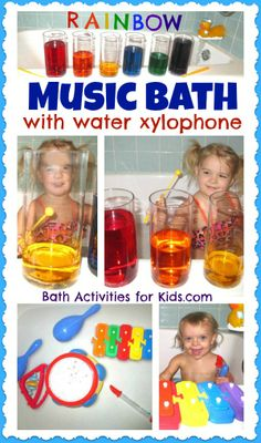 Making bathtime fun - Music Bath from Bath Activities for Kids Preschool Music Activities, Toddler Preschool, Learning Activities, Activities For Kids, Fun Crafts For Kids, Diy For Kids, Cool Kids, Teaching Music, Teaching Kids