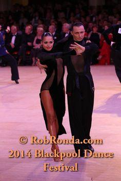 Maurizio Vescovo & Andra Vaidilaite. Latin Professional at 2014 Blackpool Dance Festival.