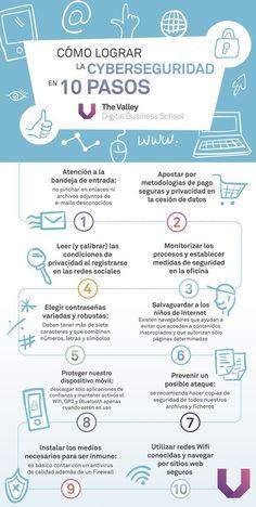 10 pasos para la Ciberseguridad #infografia #infographic