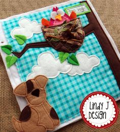 this home is TOO HIGH for Max! This is the cutest QUIET BOOK PDF PATTERN. Max searches for the perfect home. Lots of little animals pull from their homes via elastic. Super fun to make. LindyJ Design at Etsy.