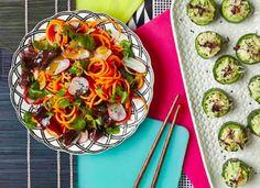 Hemsley + Hemsley Carrot, Radish and Seaweed Salad with Sweet Miso Dressing Delicious Vegan Recipes, Vegetarian Recipes, Yummy Food, Healthy Recipes, Healthy Plate, Healthy Mind, Sea Weed Recipes, Real Food Recipes, Hemsley And Hemsley