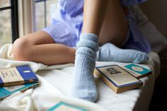 Perilla Socks Styled to feel soft warm and cosy by Lou Eastham