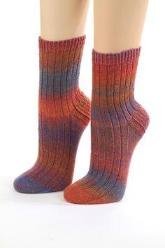 Handgestrickte Socken Gr.36/37 von Wollwerkstatt auf DaWanda.com