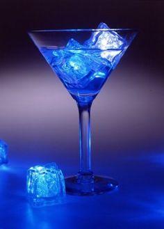 Firefly 12 x LED Liquid Sensor Ice Cubes shape BLUE Color Light lamp: Amazon.co.uk: Lighting