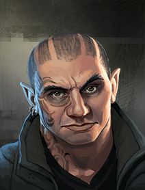 male dwarf, shadowrun