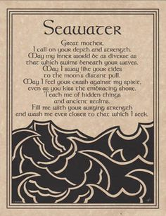 SEAWATER PRAYER POSTER A4 SIZE Wicca Pagan Witch Witchcraft BOOK OF SHADOWS picclick.com