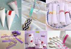Washi tape para decorar una boda handmade