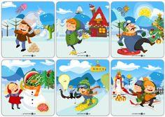 Zimowe obrazki – co tu nie pasuje? - Printoteka.pl Winter Pictures, Family Guy, Education, Detail, Fictional Characters, Art, Speech Language Therapy, Perception, Art Background