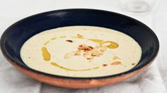 This version of ajo blanco, or white gazpacho, traditionally made with green grapes, is brightened with the addition of green apple.