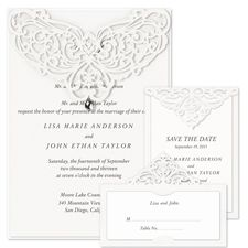 jeweled romance laser cut - wedding invitations- right on my budget!  Love it in gray!  Omg I love you pinterest!