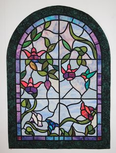 One of my favorite Stained Glass Quilts,